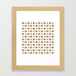 Flag of belgium 8 handmade Framed Art Print