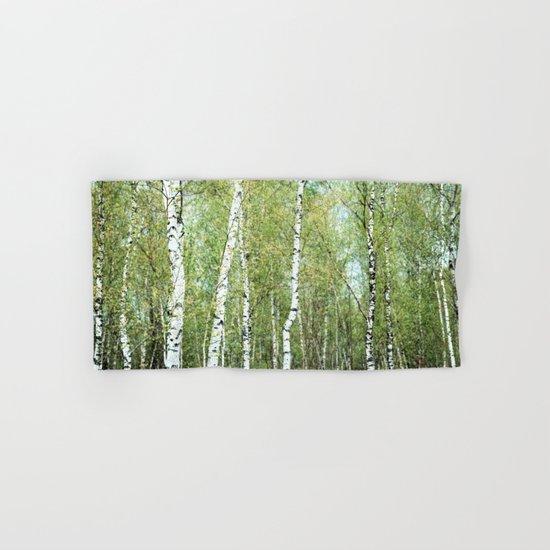 the birch forest III Hand & Bath Towel