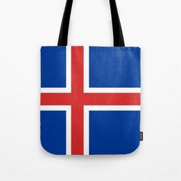 Flag: Iceland Tote Bag