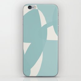 Abstract in dusty light blue and neutral shades iPhone Skin