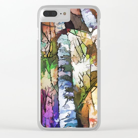 Aspen Trees Clear iPhone Case