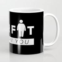fat Mugs featuring Dear Fat by ARI RIZKI