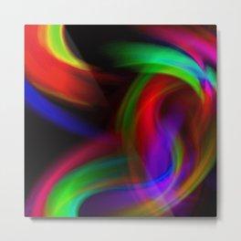 Rainbow Color Swirl Metal Print