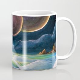Cosmic Surf Scene Coffee Mug