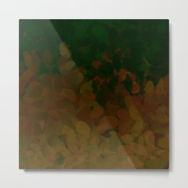 Floral Ombre (Earth-tone) Metal Print