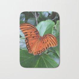 Butterfly at rest Bath Mat