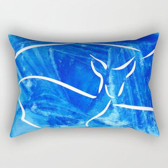 Winter mood with deer Rectangular Pillow
