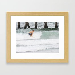Riding A Wave  Framed Art Print