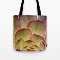 succulent Tote Bags featuring Succulent by Shy Photog