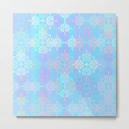 Soft Blue Lace Metal Print