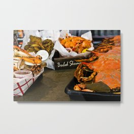 Kitchen Still Life: Lunch in the French Quarter 2 Metal Print