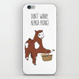 Don't Worry, Alpaca Picnic! iPhone Skin