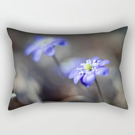 Photo-painting: spring blossoms Rectangular Pillow