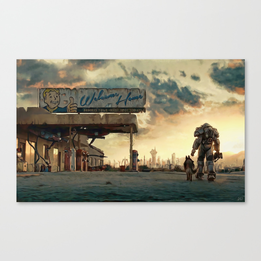 Painting canvas prints page 4 of 100 society6 for Fallout 4 canvas painting