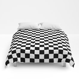 White and Black Checkerboard Comforters