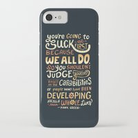 risa rodil iPhone & iPod Cases featuring Don't Be Afraid To Suck by Risa Rodil