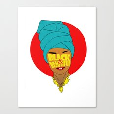 Black & beautiful  Canvas Print