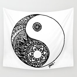 Tangled Yin Yang Wall Tapestry