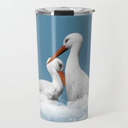 STORKS ON CLOUDS (animals love) Travel Mug