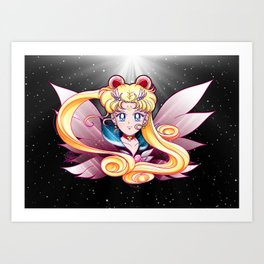 Eternal Sailor Moon (Universe edit) Art Print