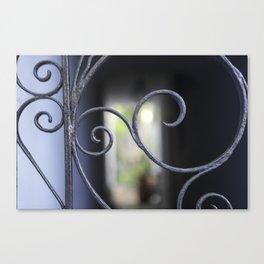 Charleston Blue Wrought Iron Canvas Print
