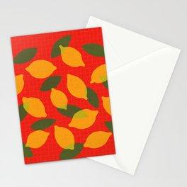 Lemons kitchen decor - mid century modern food art Stationery Cards