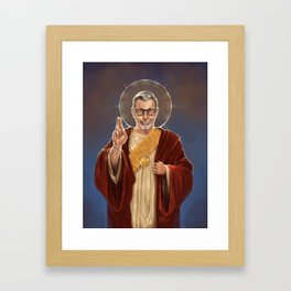 Saint Jeff of Goldblum Framed Art Print