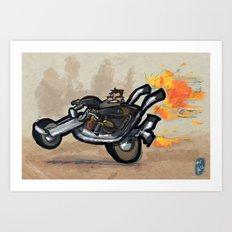 Use Verb on Noun #1: Full Throttle Art Print
