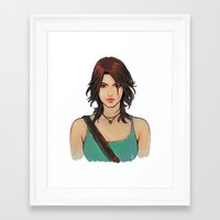 lara croft Framed Art Prints featuring Rise of Lara Croft by TholiaArt