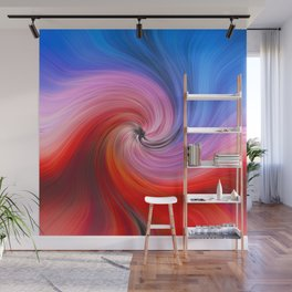 Light Fibers Color Waves Meeting Vortex Wall Mural