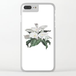Painted Cream Calla Lilies Vector Clear iPhone Case