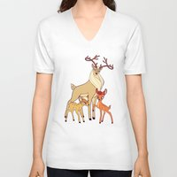 legolas V-neck T-shirts featuring Elven Deer by rdjpwns