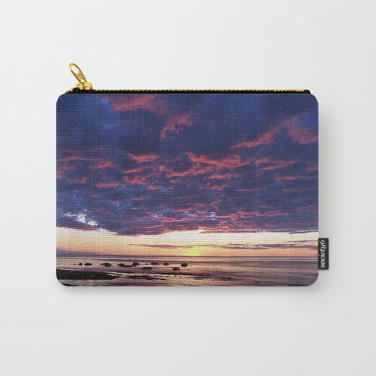 Textured Clouds at Sunset Carry-All Pouch