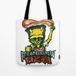 Frankenstein Pizza Tote Bag