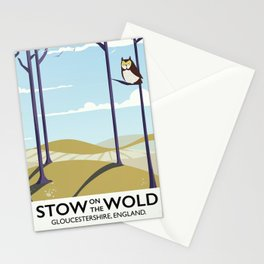 stow on the wold vintage travel poster Stationery Cards