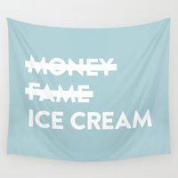 ice cream Wall Tapestries featuring Ice Cream by no925
