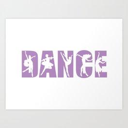 Dance in Light Purple with Dancer Cutouts Art Print