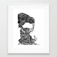 Fox and the Crow Framed Art Print