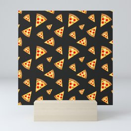Cool and fun pizza slices pattern Mini Art Print