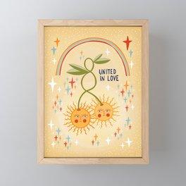 United in love Framed Mini Art Print