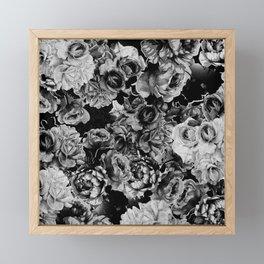 Black Roses Framed Mini Art Print