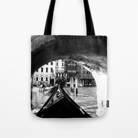 venice Tote Bags featuring venice by gzm_guvenc