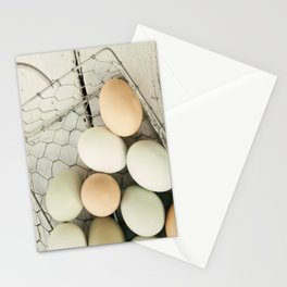 Eggs in one basket Stationery Cards