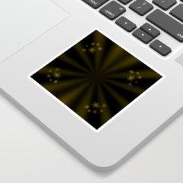 golden stars on dark background Sticker
