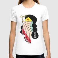 superheros T-shirts featuring She's Got Legs by Philip Morgan