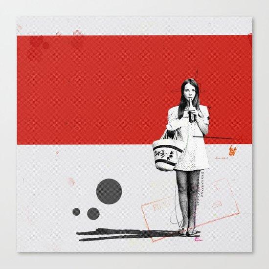 June | Collage Canvas Print