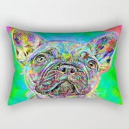 French Bulldog Painting Rectangular Pillow