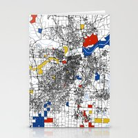 kansas Stationery Cards featuring Kansas City  by Mondrian Maps
