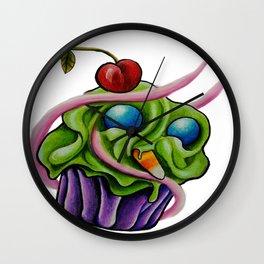 toxic cupcake Wall Clock