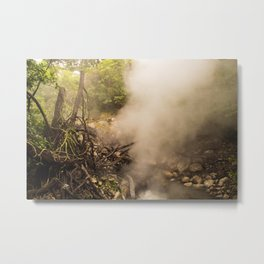Volcano Outlet, Costa Rica Metal Print